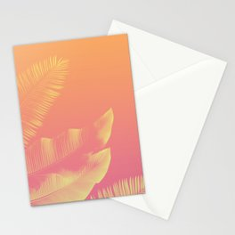 PEACHY LEAVES Stationery Cards