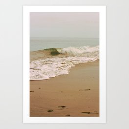 Ocean Waves on the Beach Art Print