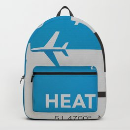 LHR Heathrow airport Backpack