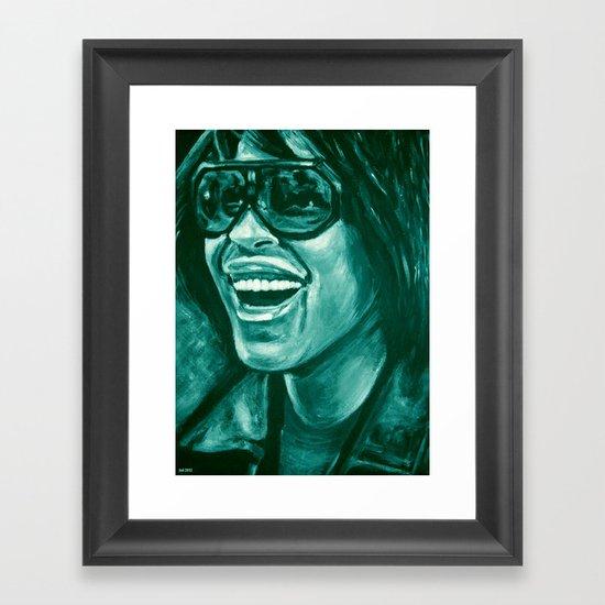 keep smiling option two! Framed Art Print