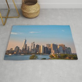 Manhattan Sunset from Governors Island Rug