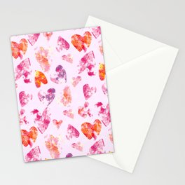 Crayon Hearts Stationery Cards