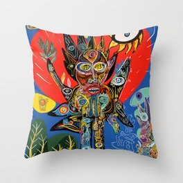 Spirit of Nature is talking to us  Throw Pillow
