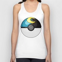 pokeball Tank Tops featuring Moon Pokeball by Amandazzling