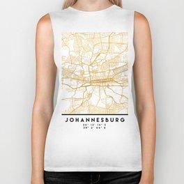 JOHANNESBURG SOUTH AFRICA CITY STREET MAP ART Biker Tank