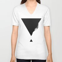 triangle V-neck T-shirts featuring Triangle by SUBLIMENATION