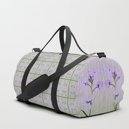 Spring Garden Violet Flowers Duffle Bag