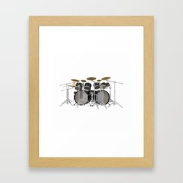 Black Drum Kit Framed Art Print
