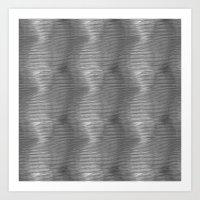 B & W wave Art Print
