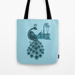 Blue peacock oriental dream Tote Bag