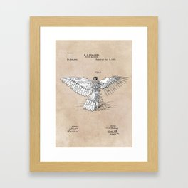 patent art Spalding Flying Machine  1889 Framed Art Print