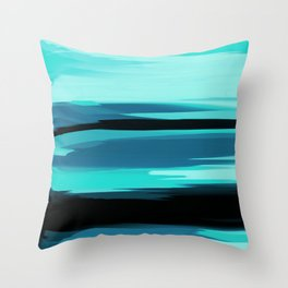 Soft Determination Aquamarine Throw Pillow