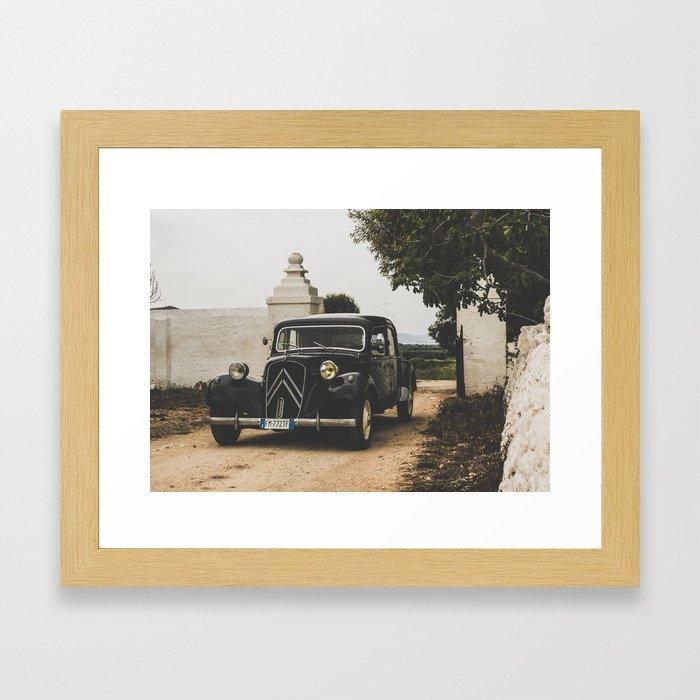 French car, fine art photography, Traction Avant, old auto, classic car, supercar, old car print Framed Art Print