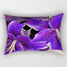 Purple lilies Rectangular Pillow