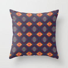 70's Geometric 2 Throw Pillow