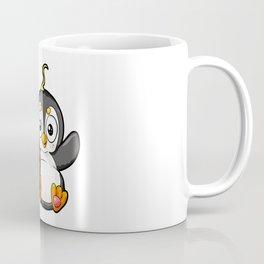 Cute Penguine Watching TV Cartoon Monitor Viewing Coffee Mug