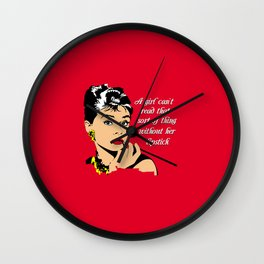 Holly Golightly Wall Clock
