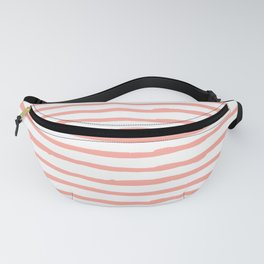 Pink Drawn Stripes Fanny Pack
