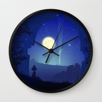 iron giant Wall Clocks featuring Iron Giant by Ape Meets Girl