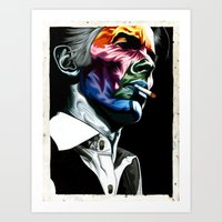 bowie Art Prints featuring Bowie by Cartyisme