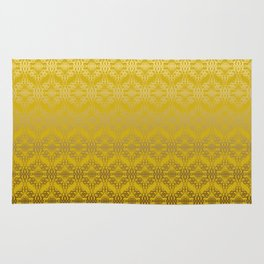 Yellow weaves pattern Rug