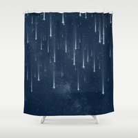 stars Shower Curtains featuring Wishing Stars by Paula Belle Flores