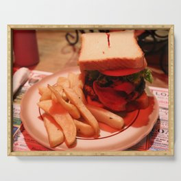Burger with Fries Serving Tray