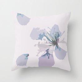 Lilac Floral Throw Pillow