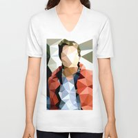 marty mcfly V-neck T-shirts featuring Back to the Future // Marty McFly by VIVA LA GRAPH!
