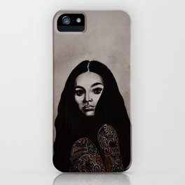 Kayla - B&W iPhone Case