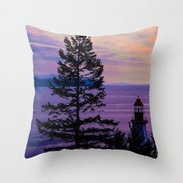 VanCity Sights In Purple Throw Pillow