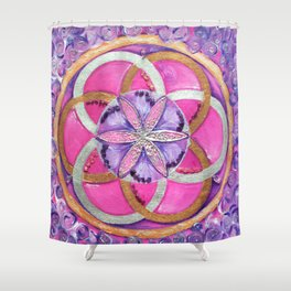 Fower of life Shower Curtain