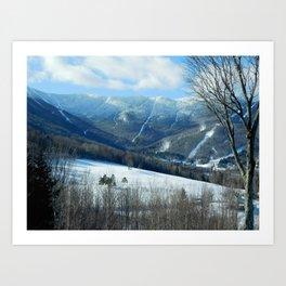 Ski Trails at Sugarbush Resort, Vermont Art Print