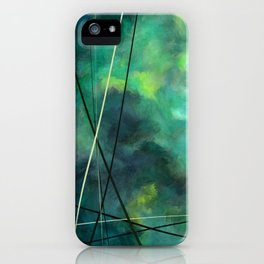 Crossed Green - Abstract Art iPhone Case