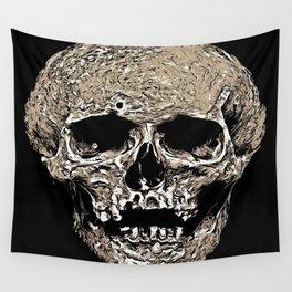 Full Skull With Rotting Flesh Vector Wall Tapestry