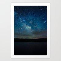 milky way Art Prints featuring Milky Way by Kassie Jackson