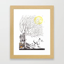Harvest Moon Night - Illustration by: Taren S. Black Framed Art Print