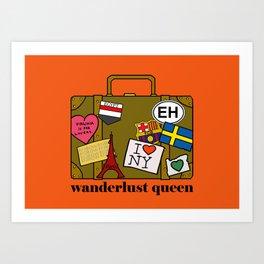 Wanderlust Queen Art Print