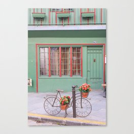 Bike Statue Canvas Print