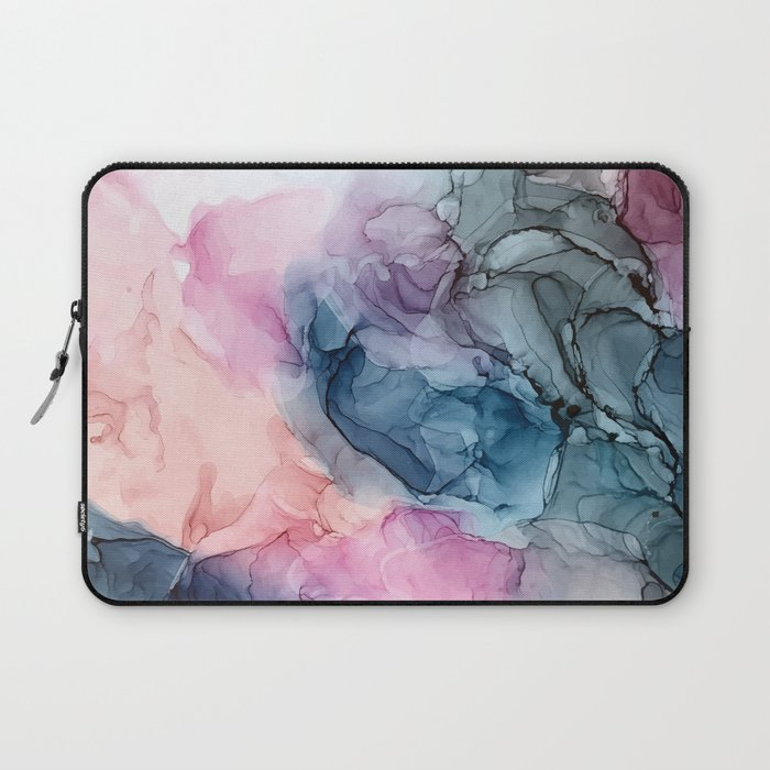 Heavenly Pastels: Original Abstract Ink Painting Laptop Sleeve