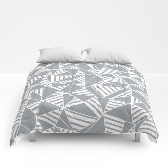 Abstract Lines B Grey Comforters