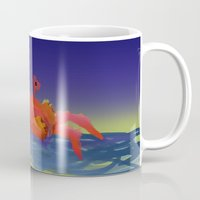 crab Mugs featuring Crab by Katie Micks