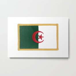 Algerian Embroidery  Flag Metal Print