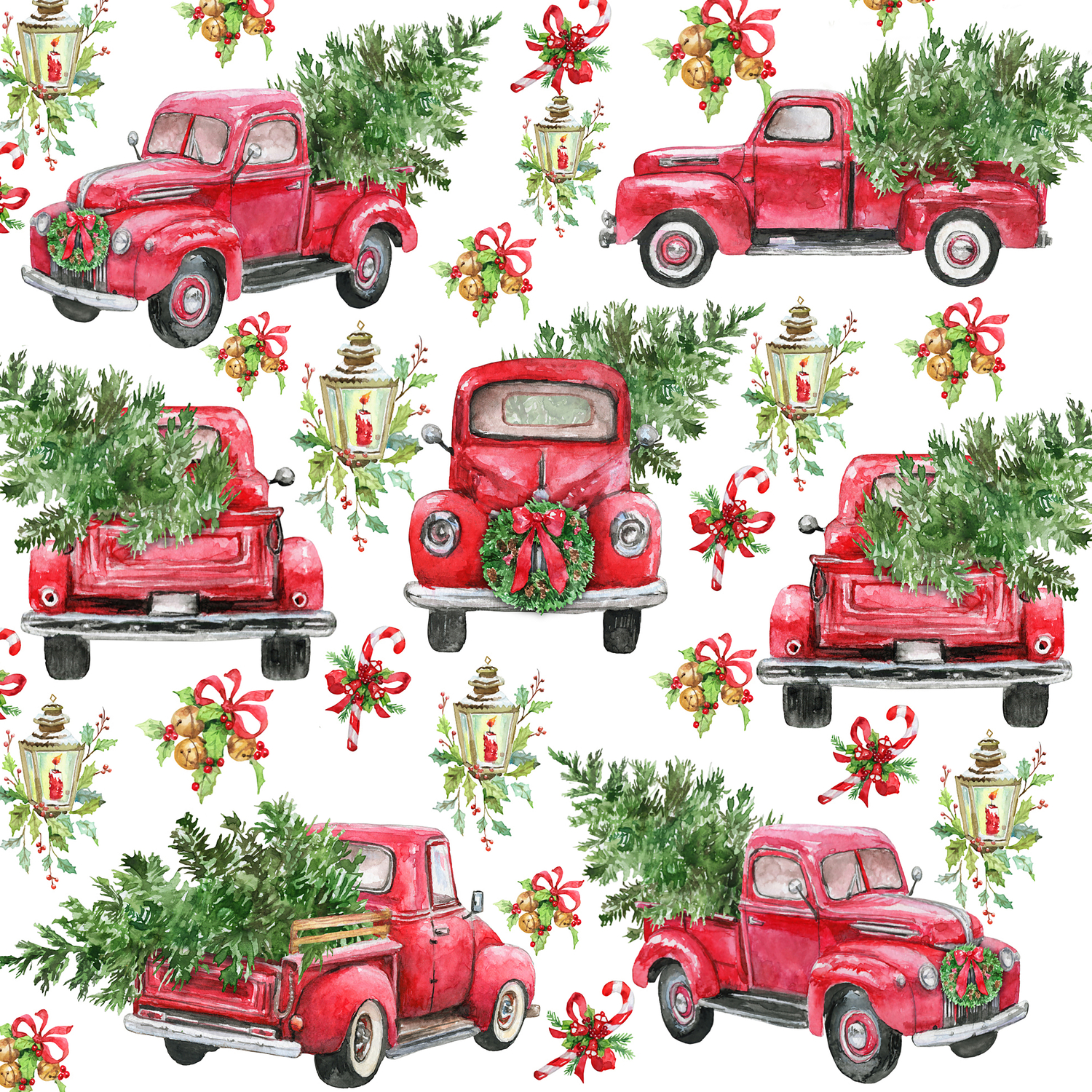 red truck with christmas tree1611882 comforters