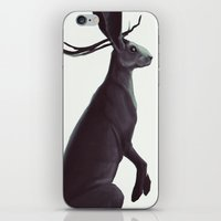 jackalope iPhone & iPod Skins featuring Jackalope by Coquiwi