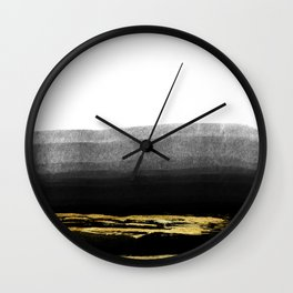 Black & Gold Stripes on White- Mix & Match with Simplicty of life Wall Clock