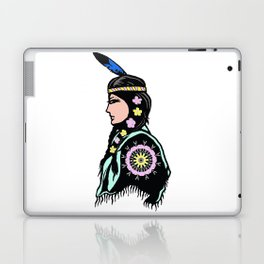 Indian woman with flowers Laptop & iPad Skin