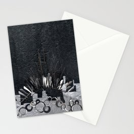 Silver Cityscape Stationery Cards