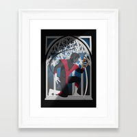 sword Framed Art Prints featuring Wagner's Sword by Andrew Formosa