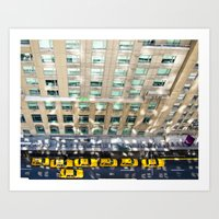 blair waldorf Art Prints featuring Above the Waldorf by Adam Michiels